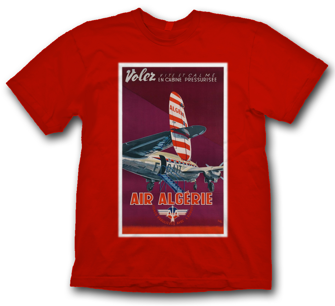 Air Algerie Connie Poster Shirt.